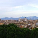 Looking towards ancient Rome from Castel Sant' Angelo