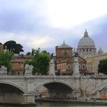 View of St. Peter's from Castel Sant' Angelo