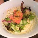 Fresh salmon salade