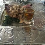 Steak with a shot of JD