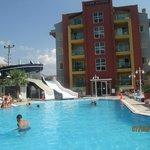 Pool area, Club Alpina
