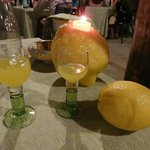 Limoncello on the house