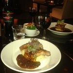 The lamb cutlets with the tournedos in the background