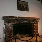 fireplace inside restaurant