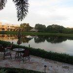 Le petit étang du parc de l'hôtel