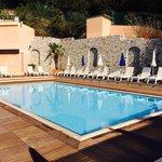 peaceful pool area