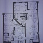 Floor plan of 2BR unit