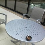 table in breezeway