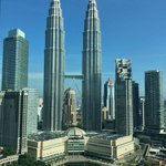 View from room during the day - Petronas Twin Towers