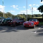 Classic cars in car park