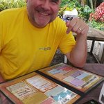 My hubby, who was soo happy to order his lunch meal here! We were hungry!