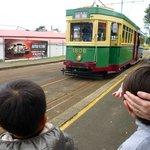 実際に乗れる路面電車、これはオーストラリアでも使われていた模様
