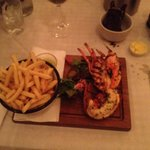 Grilled lobster with chips