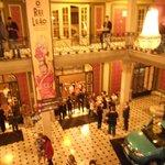 Vista da recepção do teatro
