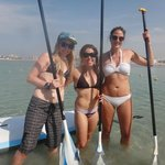 Paddle boarding at Sandy Beach
