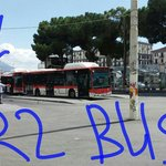 Take R2 bus from centre of square to hostel. From Napoli Centrale walk through street opposite N