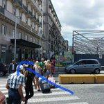 To take R2 bus you have take this street to centre of square(10 min walk), from exit Napoli Cent