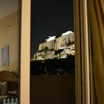 widok z pokoju na Akropol