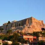 widok o poranku na Akropol