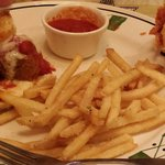 Meatball sandwich & parmesan fries