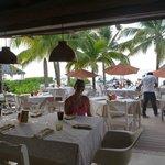 Restaurant sobre la playa