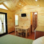 Inside view of a Deluxe Studio cabin.