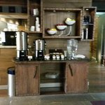 Coffee area near front lobby