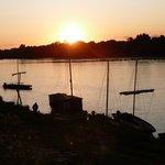 Sonnenuntergang an der Loire gleich unterhalb des La Maison du Pecheur