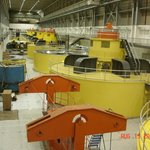 The eight hydroelectric generators