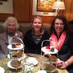 3 generations all enjoying afternoon tea