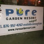 Sitting out front at pure garden resort