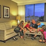 Spacious one bedroom suites are perfect for families