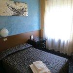 Bella stanza singola con letto a 1 piazza e mezza