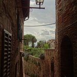 Narrow streets of St. Gimignano