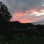 Vista tramonto dall'hotel