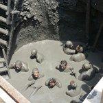 Inside the mud volcano