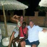 My husband enjoying the evening with Zulu & Jack