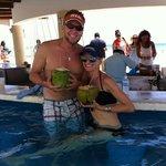 coconut drinks @ Kuku's beachfront bar