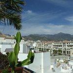 View across the roof top terrace, Hotel Plaza Cavana