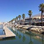Lagos Marina, restaurants and shops.