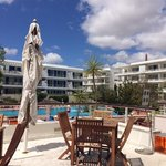 Pool view and apartments Marina Club.