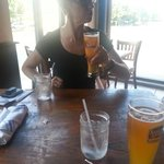 Cool beer on a hot day. Great watering hole.