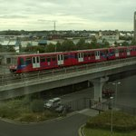 grandstand view of the DLR from the room