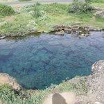 a crystal clear pond