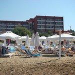 La plage et l'hôtel