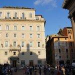 Next to the Pantheon
