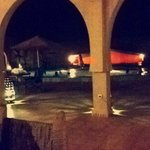 Vu du Riad lors du dîner en plein air