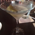 Dirty martini with olives of course