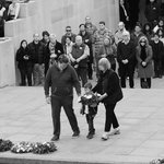 Our family participating in the Last Post Ceremony