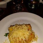 Rollos de pollo con queso gratinado